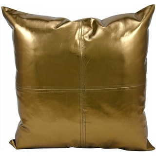 Michael Amini Metallic Bronze Throw Pillow (16-inch x 16-inch) by Nourison