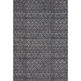 Grand Bazaar Wool and Viscose Guilia Area Rug in Black/ Dark Gray (7'10 x 11')