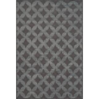 """Grand Bazaar Power Loomed Wool & Viscose Settat Rug in Dark Gray / Dark Gray 7'-10"""" x 11'"""