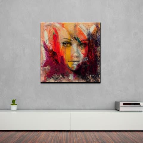 Ready2HangArt 'Abstract BX Femme IV' Portrait Canvas Wall Art