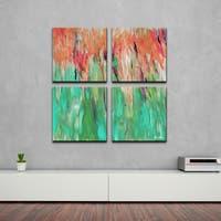 Ready2HangArt 'Abstract Landscape' 4-piece Canvas Wall Art