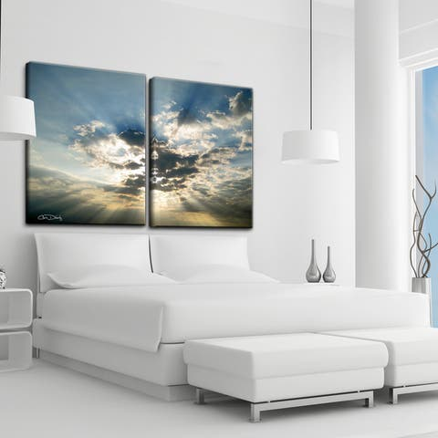 Christopher Doherty 'Cloud Escape I' 2-Piece Canvas Wall Art Set