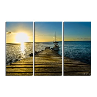 Christopher Doherty U0027Wooden Pieru0027 3 Piece Canvas ...
