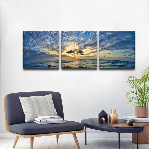 Christopher doherty ocean 3 piece canvas wall art