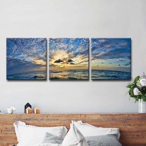 Ready2hangart Ocean 3 Piece Wrapped Canvas Wall Art Set On Sale Overstock 9066763