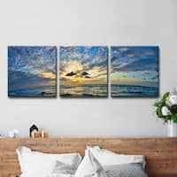 Christopher Doherty 'Ocean' 3-piece Canvas Wall Art