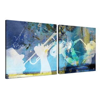 Ready2HangArt 'Trumpet and Sax' 2-piece Canvas Wall Art