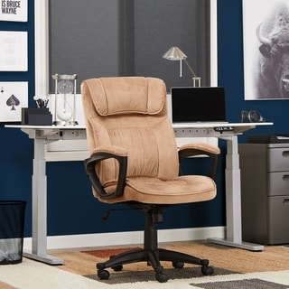 Serta Light Coffee Microfiber Executive Office Chair