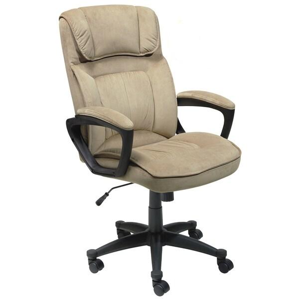 Serta Light Coffee Microfiber Executive Office Chair