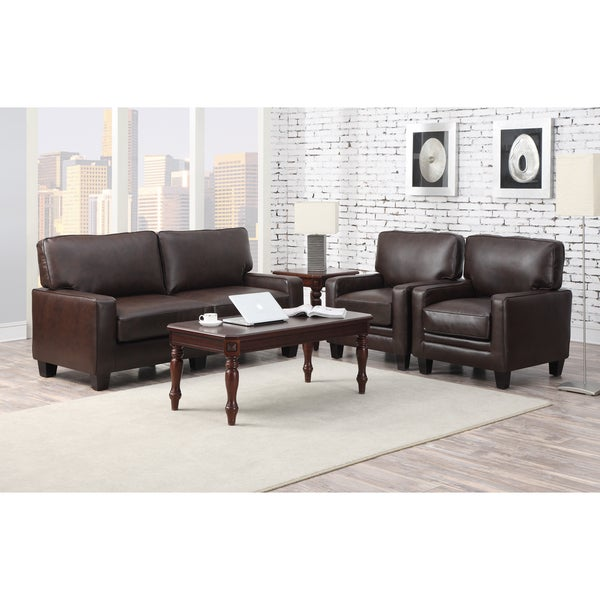 Fresh Serta RTA Monaco Collection 72 inch Brown Leather Sofa New - Beautiful 72 inch sleeper sofa Modern