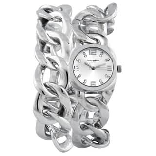 Vernier Paris Women's Crystal Silver-tone Chain Link Double Wrap Watch|https://ak1.ostkcdn.com/images/products/9066842/Vernier-Paris-Womens-Crystal-Silver-tone-Chain-Link-Double-Wrap-Watch-P16260167.jpg?impolicy=medium