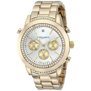 Vernier Paris Women's Genuine Diamond Swiss Quartz Goldplated Bracelet Watch