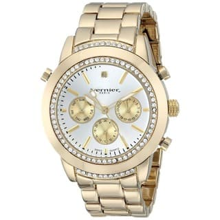 Vernier Paris Women's Genuine Diamond Swiss Quartz Goldplated Bracelet Watch|https://ak1.ostkcdn.com/images/products/9066849/P16260173.jpg?impolicy=medium