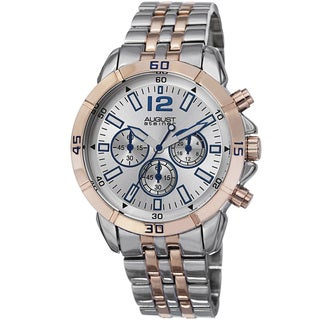 August Steiner Men's Quartz Chronograph Two-Tone Bracelet Watch