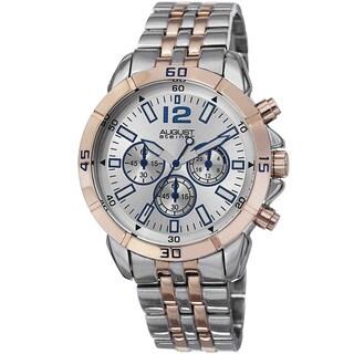 August Steiner Men's Quartz Chronograph Two-Tone Bracelet Watch