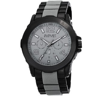 August Steiner Men's Quartz Multifunction Grey Bracelet Watch