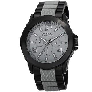 August Steiner Men's Quartz Multifunction Grey Bracelet Watch