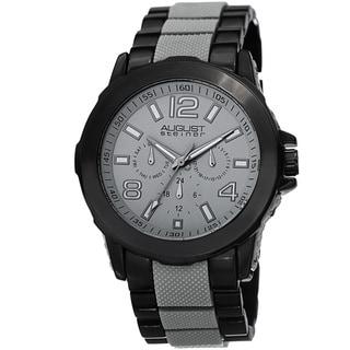 Link to August Steiner Men's Quartz Multifunction Grey Bracelet Watch Similar Items in Men's Watches