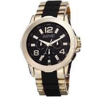 August Steiner Men's Quartz Multifunction Gold-Tone Bracelet Watch