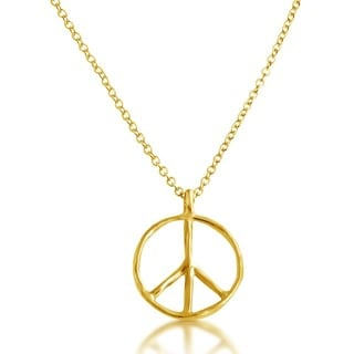 Belcho Peace Symbol Pendant Chain Necklace