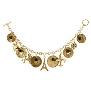 French Coin Charm Bracelet|https://ak1.ostkcdn.com/images/products/9066914/French-Coin-Charm-Bracelet-P16260224.jpg?impolicy=medium