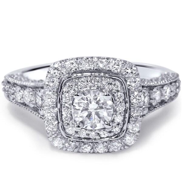 14k White Gold 1 1/2ct TDW Vintage Diamond Ring