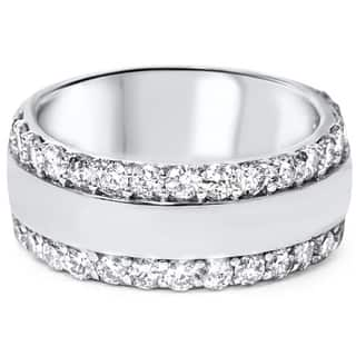 14k White Gold 2 3/4ct TDW Diamond Double Row Band|https://ak1.ostkcdn.com/images/products/9066918/P16260220.jpg?impolicy=medium