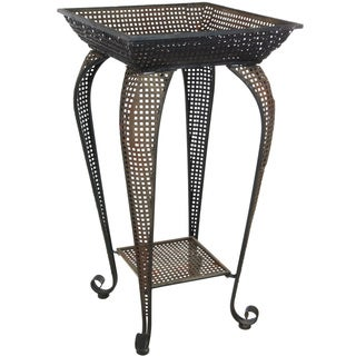 Handmade Perforated Square Iron Display Stand (China)