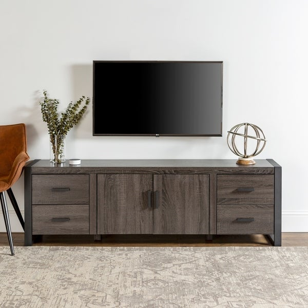 "71"" Urban Blend TV Stand Console - Charcoal - 71 x 16 x 22h"