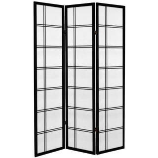6-foot Tall Canvas Double Cross Room Divider