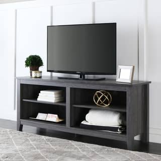 havenside home currituck 58 inch wood charcoal grey tv stand - Entertainment Centers Tv Stands