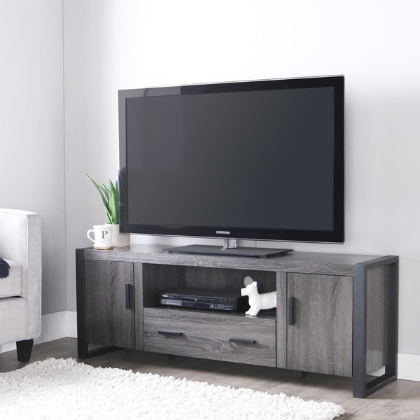 60 inch charcoal grey tv stand free shipping today overstock 60 inch charcoal grey tv stand sciox Images