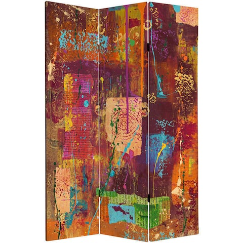 India-inspired Double-sided Canvas Room Divider