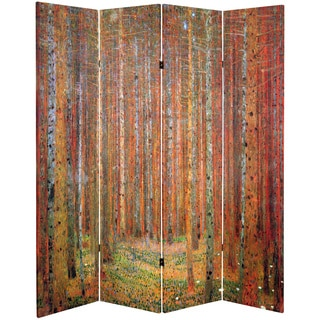 Double-sided Works of Klimt Tannenwald/Farm Garden Room Divider