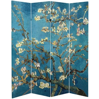 Double Sided Works Of Van Gogh Almond Blossoms/Wheat Field Canvas Room  Divider