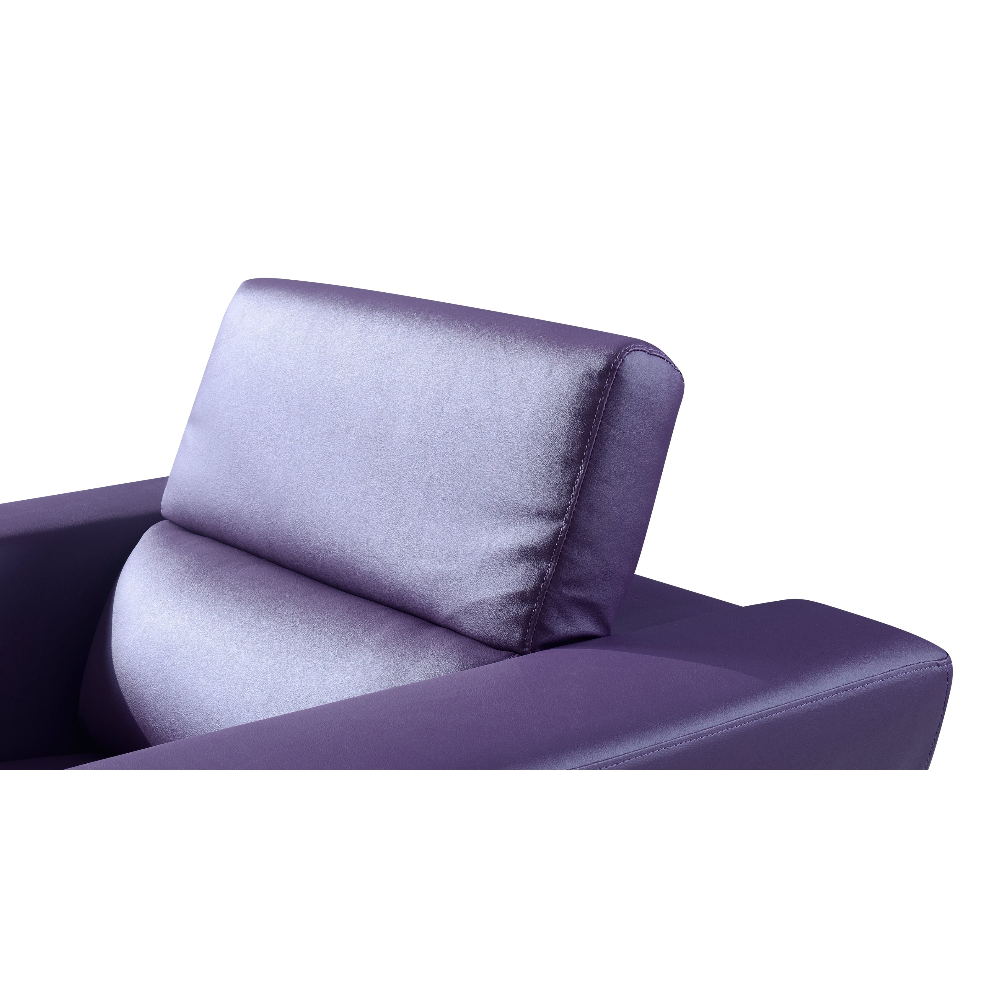 Miraculous Natalie Purple Bonded Leather Sofa Theyellowbook Wood Chair Design Ideas Theyellowbookinfo