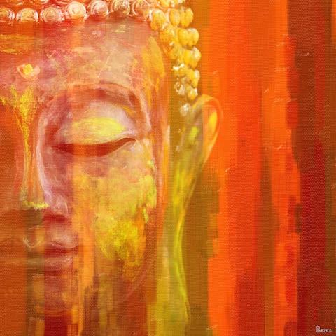 Handmade Parvez Taj - Buddha Canvas Art