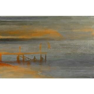 Parvez Taj 'Lake Time B' Canvas Art