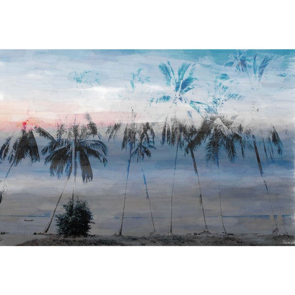 Parvez Taj 'Blue Palms' Canvas Art