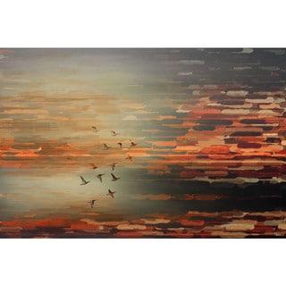 Handmade Parvez Taj - Night Flight Canvas Art
