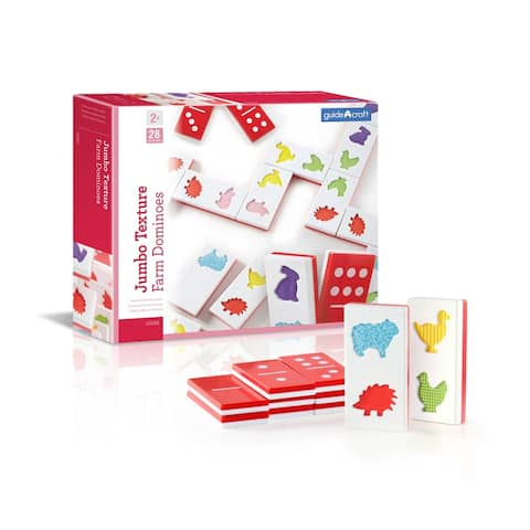 Guidecraft Jumbo Texture Dominoes - MultiColor