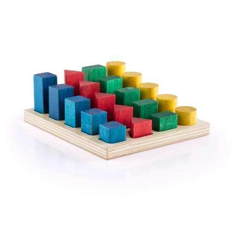 Guidecraft Colored GEO Forms - MultiColor
