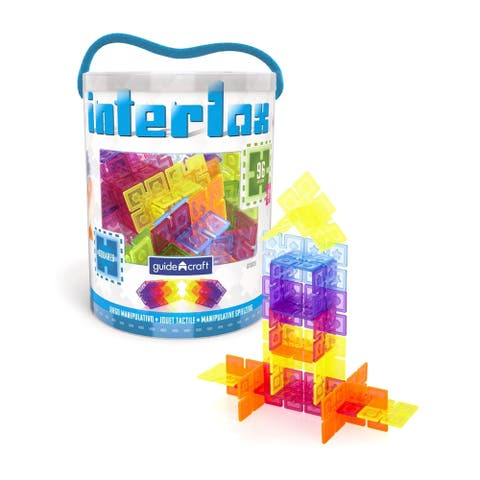 Guidecraft Interlox 96 pcs - MultiColor