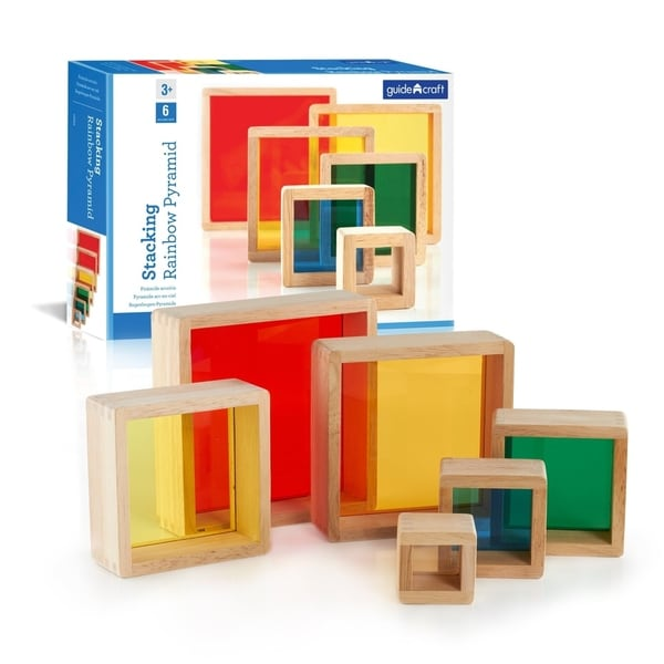 Guidecraft Stacking Rainbow Pyramid - MultiColor. Opens flyout.