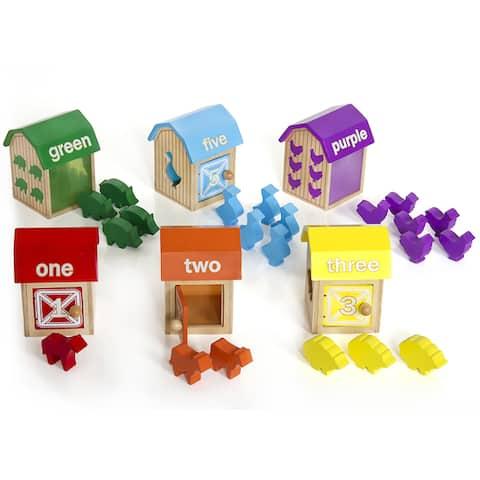 Guidecraft Barnyard Activity Boxes - MultiColor