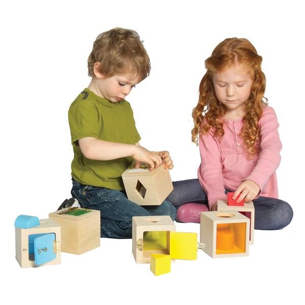 Guidecraft Peekaboo Lock Boxes (Set of 6)