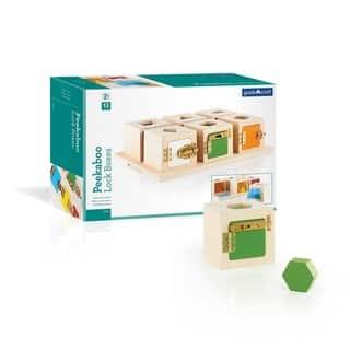 Guidecraft Peekaboo Lock Boxes (Set of 6) - MultiColor