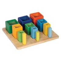Guidecraft Nesting Sort Stack Cubes - Green/Blue