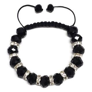 Macrame All-crystal and Rhinestone Bracelet