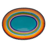Tequila Sunrise Oval Ceramic Platter